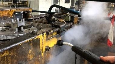 Nettoyage vapeur en industrie