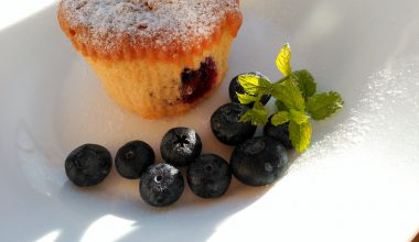 Foto muffins de arándanos caseras