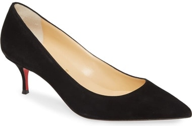 Best designer shoes - Christian Louboutin 'Kate' pointed toe pump | 40plusstyle.com