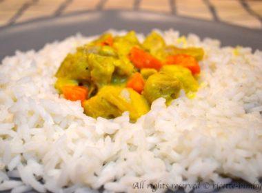 Pollo al curry con riso basmati Bimby