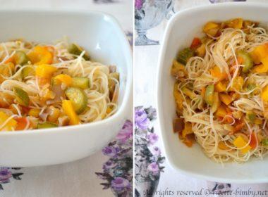 Spaghetti di riso con verdure Bimby