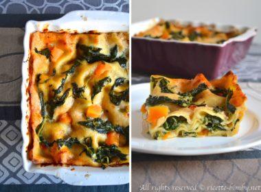 Lasagne zucca e spinaci Bimby