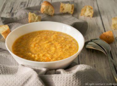 Zuppa di zucca e lenticchie rosse Bimby