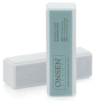 Manicure at home - Onsen Professional Nail Buffer Block | 40plusstyle.com