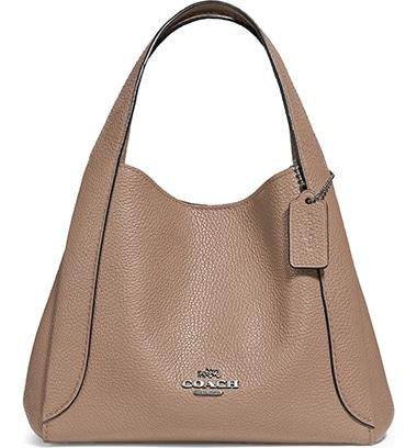 COACH Hadley 21 Pebble Leather Hobo | 40plusstyle.com