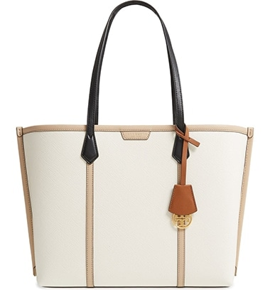 Tory Burch Perry colorblock leather tote | 40plusstyle.com