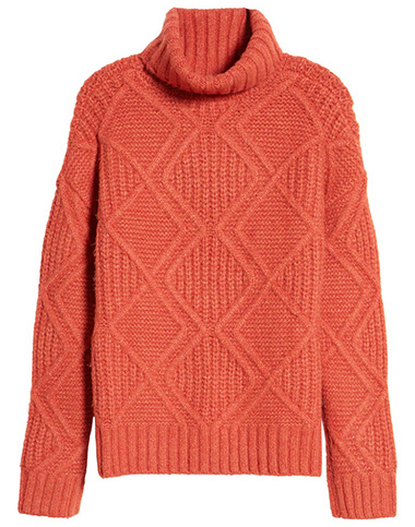 Caslon chunky cable knit turtleneck sweater | 40plusstyle.com