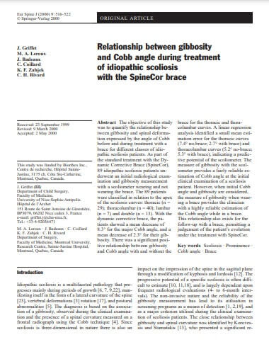 Relationship Between Gibbosity and Cobb Angle During Treatment