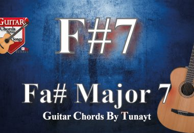 Fa sharp dominant7 chord on guitar