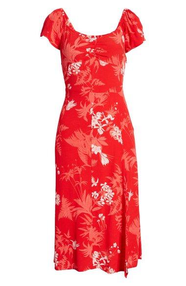 Vestido con aberturas florales Chelsea28    40plusstyle.com