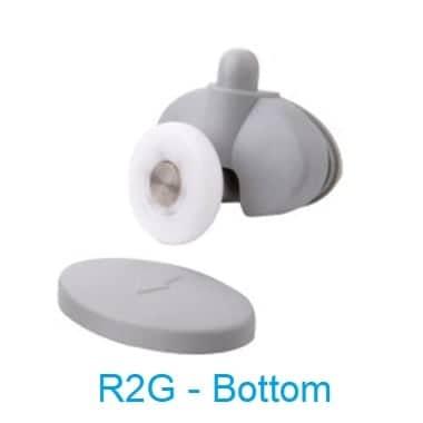 Shower Door Rollers Single Wheel R2G bottom guide - shower door parts