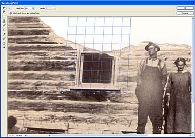 Repair a missing piece of a photo