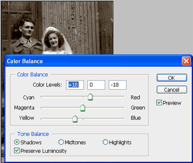 3 ways to change a black and white photo to sepia.