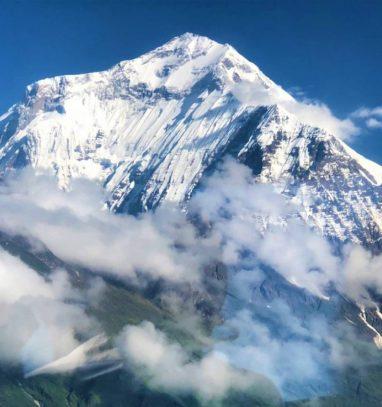 Mt. Dhaulagiri captured from Base Camp- Dhaulagiri Circuit Trekking