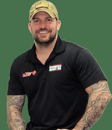 Justin Lipes with firearm webinar and gun webinar tattoos