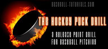 hockey puck baseball pitching drill