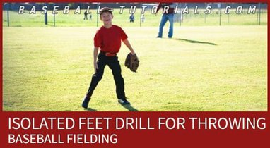 baseball fielding isolated feet