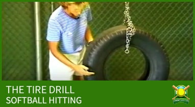 softball hitting the tire drill