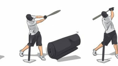 Heavy Bag Knockdown Baseball Hitting Drill