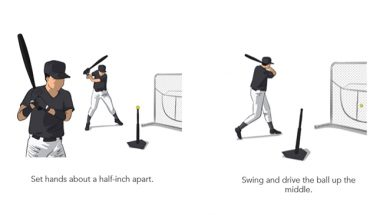 split hand baseball hitting drill