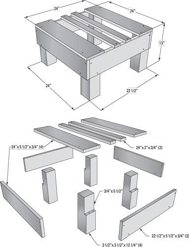 beehive stand plan 3