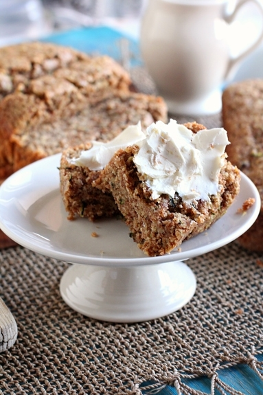 This zucchini quinoa bread is a healthier take on the classic recipe. The nutty quinoa flour combined with the flavors of cinnamon and vanilla make this one of the best quick bread recipes I've made to date! #zucchinibread #quickbread #quinoaflour #healthyrecipe