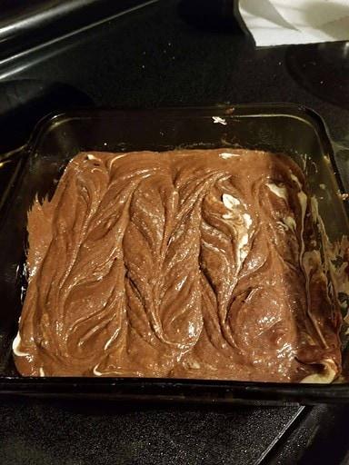 brownie batter swirled with cheescake