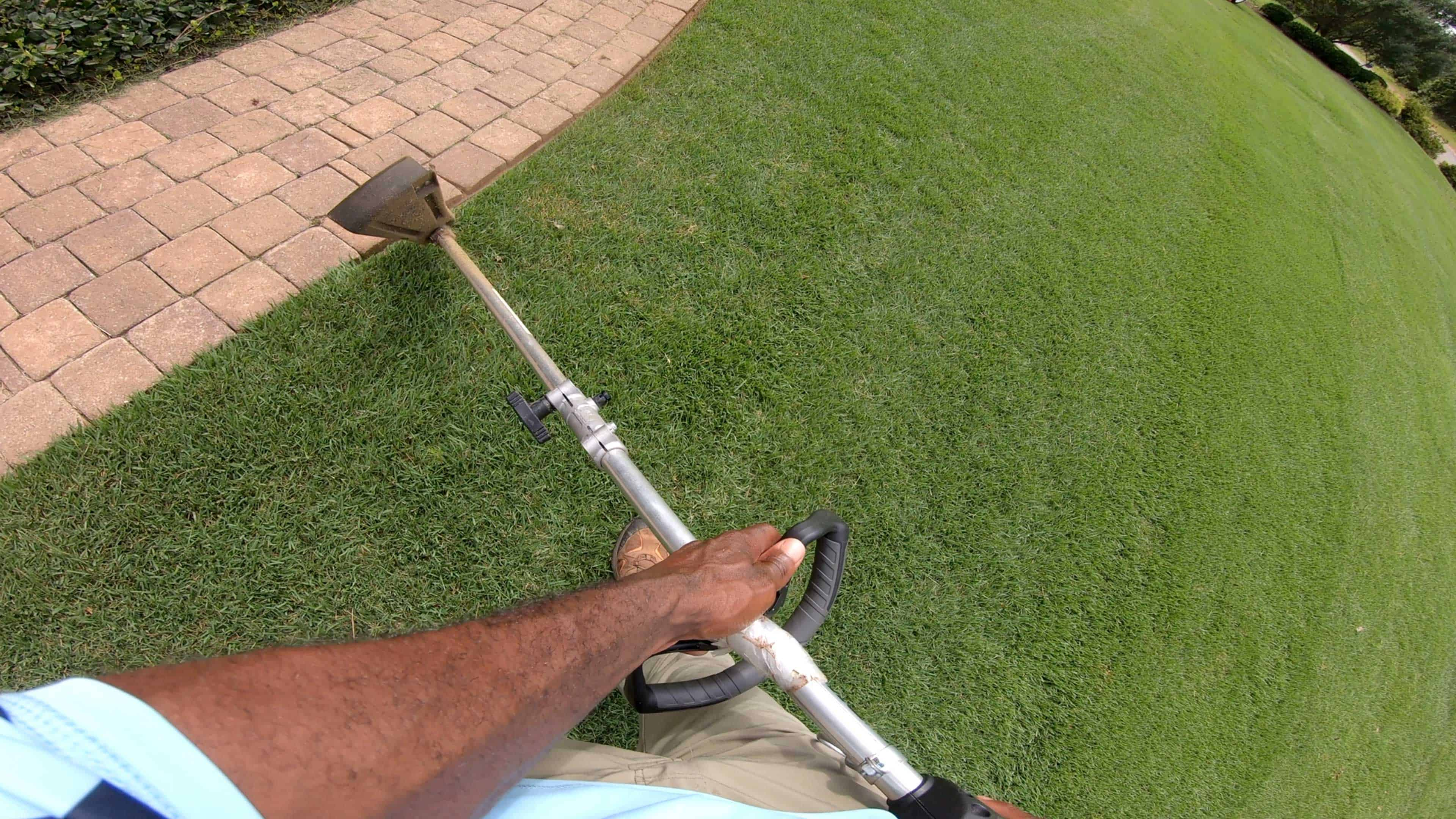 Use a edger to create precise transitions