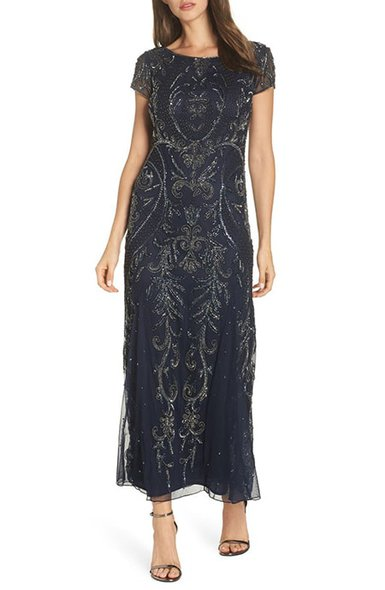 Pissaro Nights embellished mesh gown | 40plusstyle.com
