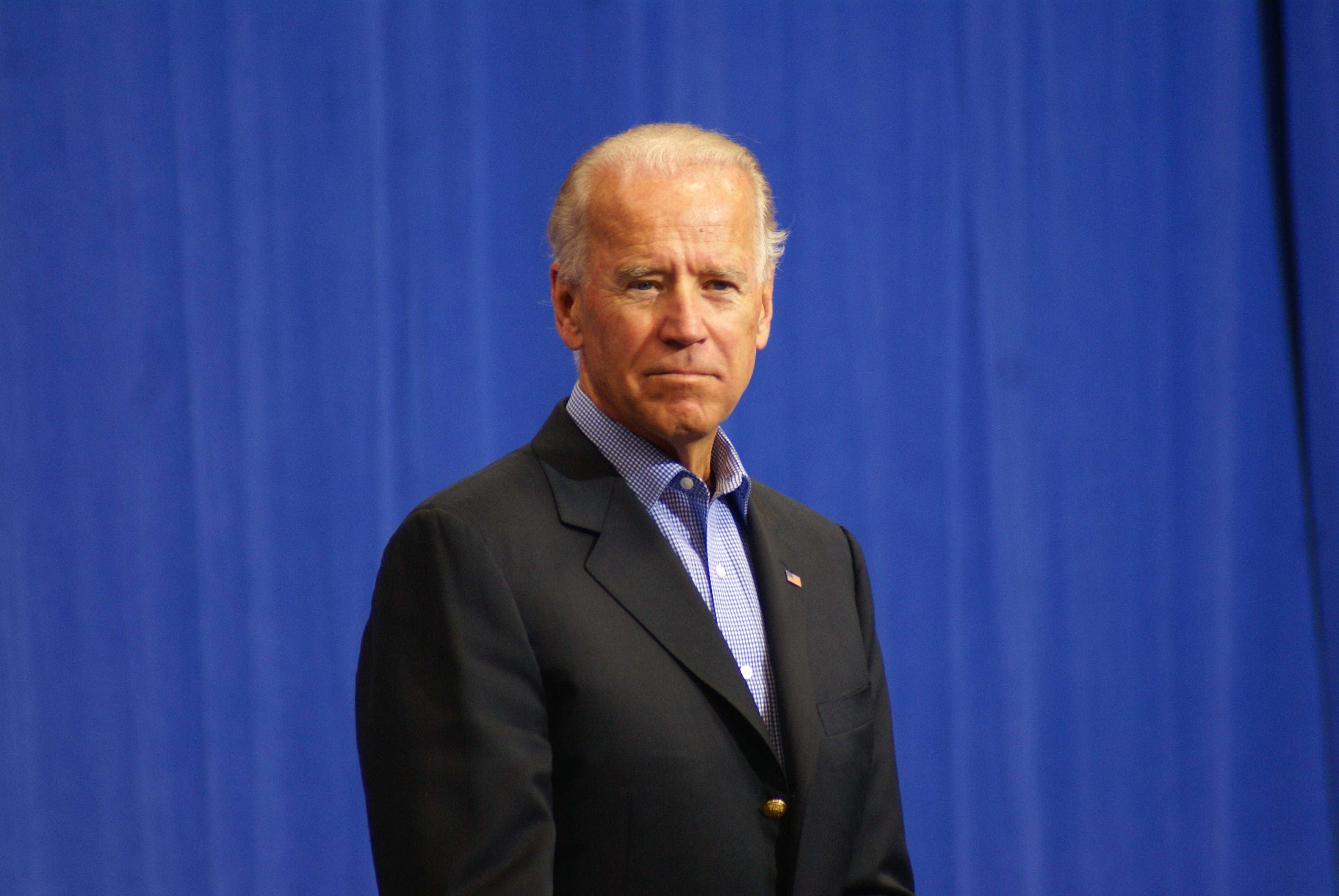 Then-U.S. President Joe Biden speaks on the campaign trail at an event in Merrimack, New Hampshire on September 22, 2012. (Image Credit: Marc Nozell)