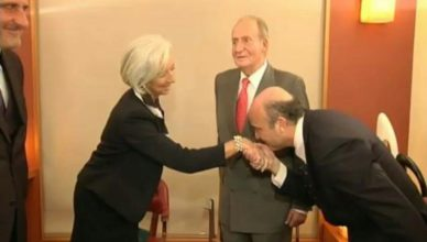 Guindos Lagarde Besamanos