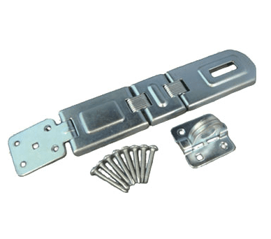 Double hinge flexible hasp