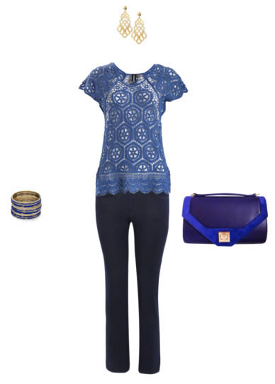 Casual outfit formula 1: blue jeans with a special lace top | 40plusstyle.com