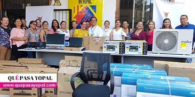 Photo of Equipos de cómputo y mobiliario de oficina entregó la Alcaldía de Yopal a la Casa de Justicia