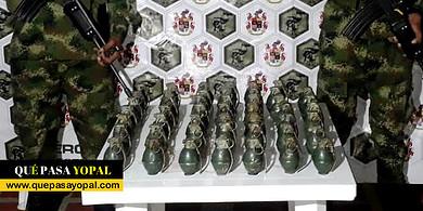Photo of Ejército Nacional halló en Sácama 48 granadas de fragmentación