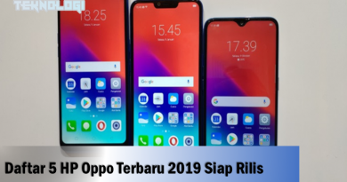 daftar HP Opp 2019