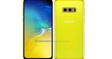 Seperti Inikah Samsung Galaxy S10E Varian Warna Canary Yellow?
