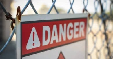 danger sign hanging on fence| 5 things you must do before undertaking a DIY project