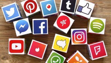social media logos on dice