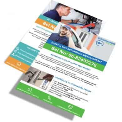 Flyer Locksolutions & Dijsktra Loodgieter
