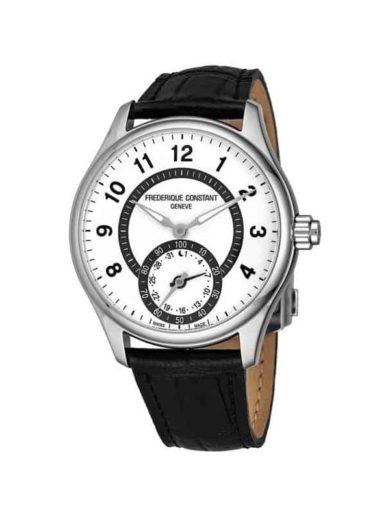 Frederique Constant Mens FC 285SDG5B6 Horological Smart Watch Silver Dial Black Leather Strap Swiss Quartz Watch c95e1e55 464d 4223 934d b7ba0ac39c48 600 1 1