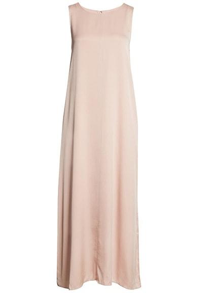 Vestidos de verano para mujeres mayores de 50 años -Nordstrom Signature Stretch Silk Tank Dress    40plusstyle.com