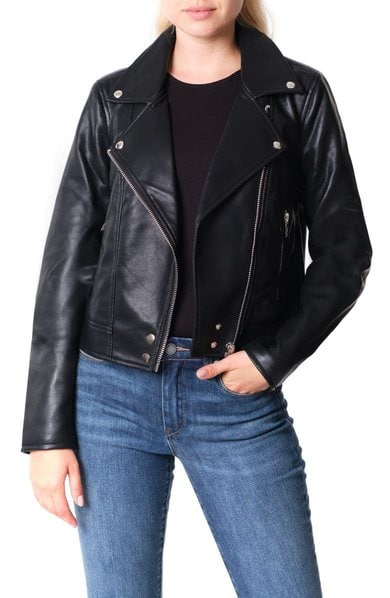 Best Gift ideas for bloggers - Blank NYC Good Vibes Faux Leather Moto Jacket