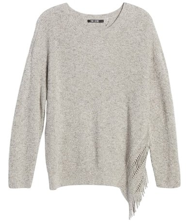 the most chosen stylish clothes of the year - NIC + ZOE fringe sweater | 40plusstyle.com