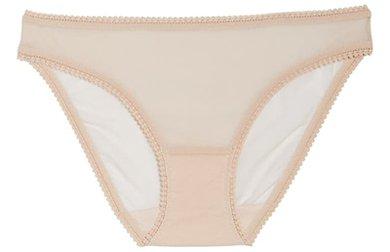 No show underwear - On Gossamer mesh bikini | 40plusstyle.com