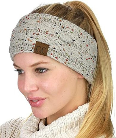 C.C soft stretch cable knit warmer headband | 40plusstyle.com