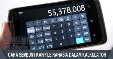 Cara Sembunyikan File Rahasia Dalam Kalkulator
