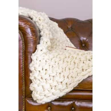 Arm knitted throw