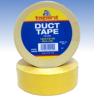 Yellow Duct Tape, 2 Inch x 10 Yard