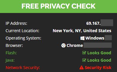 IP and location check (no vpn)